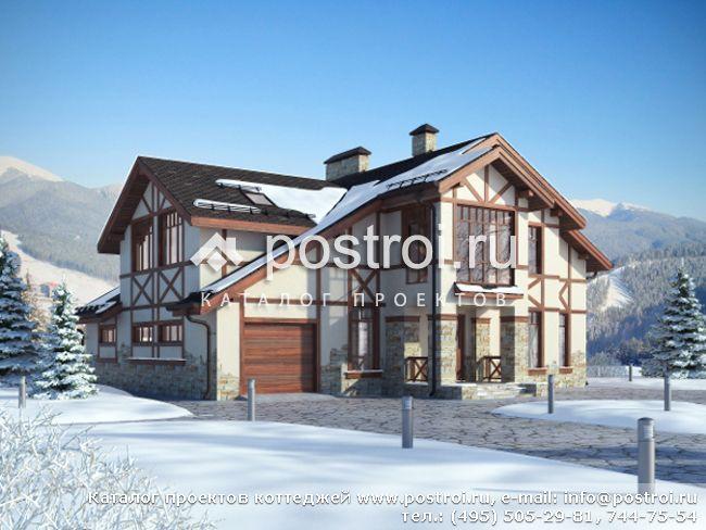 Проект дома в стиле шале ЯГ 300-5.  Проект современного дома КА 297-45.